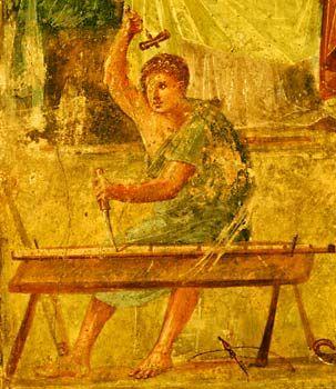 Los artistas romanos.